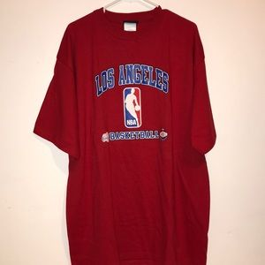 NWT! Los Angeles Clippers red men's T-shirt